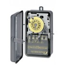 Intermatic T173CR - 24 Hr. Dial Time Switch - w/Skipper and Carryover - NEMA 3R Raintight Steel Case - DPST - 40 Amps - 125 Volt