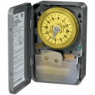 Intermatic T1905 - 24 Hr. Dial Time Switch - Without Skipper Wheel - NEMA 1 Indoor Steel Case - SPDT - 20 Amps - 125 Volt