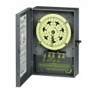 Intermatic T7401BC - 7-Day Dial Time Switch - 16 Hours Carryover - NEMA 1 Steel Case - 4PST - 40 Amps - 125 Volt
