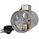 """ROTOM In-Line Air Duct Booster Fans with Cord - 12"""" Round - Max. Boosted 800CFM - 115V - T9-DB212C"""