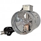 "ROTOM T9-DB204C - In-Line Air Duct Booster Fan with Cord - 4"" Round - 80CFM - 115V - 30W - 0.3A"