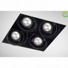 Eurofase TE214BLED-01 - 4LT, TRIMLESS MULTIPLE RECESSED,LED, W/DRIVER  - Black/Black - 12V