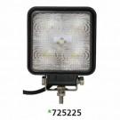 "Techspan 725225 - LED 4-1/2"" Square Tractor/Utility Lamps – 10-30VDC 15W 1500Lumens - Flood - Aluminum - 2 PACKS"