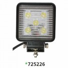 "Techspan 725226 - LED 4-1/2"" Square Tractor/Utility Lamps – 10-30VDC 15W 1500Lumens - Spot - Aluminum - 2 PACKS"