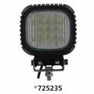 "Techspan 725235 - LED 5"" Square Tractor/Utility Lamps – 9-32VDC 48W 4800Lumens - Narrow Flood - Aluminum - 2 PACKS"