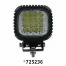 "Techspan 725236 - LED 5"" Square Tractor/Utility Lamps – 9-32VDC 48W 4800Lumens - Spot - Aluminum - 2 PACKS"