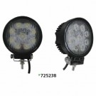 "Techspan 725238 - LED 4-1/2"" Round Tractor/Utility Lamps – 9-32VDC 27W 1710Lumens - Flood - Aluminum - 2 PACKS"