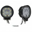 "Techspan 725239 - LED 4-1/2"" Round Tractor/Utility Lamps – 9-32VDC 27W 1710Lumens - Spot - Aluminum - 2 PACKS"
