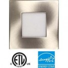 """EEL UTLED-S12W-4KBN-SQ - UltraThin 4"""" LED Recessed - 12 Watt - 800 Lumens - 4000K - 1"""" Thickness - 120V - IC Rated - Brushed Nickel"""