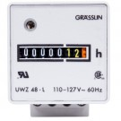 Intermatic UWZ48-220/50U - AC Hour Meter - Surface Mount - Screw Terminals - 220V 50Hz
