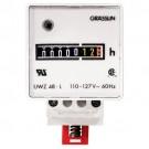 Intermatic UWZ48V-24U - AC Hour Meter - DIN Rail Mount - Screw Terminals - 24 VAC 60Hz
