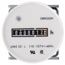 Intermatic UWZ52E-120U - AC Hour Meter - Round Face - Flush Mount with Bracket - 120 VAC 60Hz
