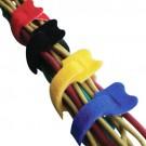 Techspan VCT500BLX - K-SPEC® Cable Tie - Velcro Cable Ties - 5.1'' Length - 1.38'' Bundle Dia. - Nylon - Blue - 10/Pack