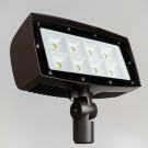 RAB Design VFL5-LED300-C-5K-W-BRZ-PC-YK - LED Floodlight - 310W - 347V - 33027Lm - 5000K Daylight - Wide - Bronze Finish - Photocell - Yoke