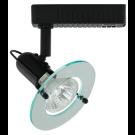 Liteline VS1040-BK - Venus Black Track Fixture with Clear Acrylic Ring - 12V Low Voltage - MR16 Lamp 50W Max.