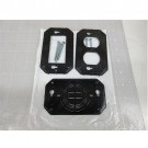 Intermatic WP17 - Specialty Wall Plate - Single Gang Flexi Guard GFCI Toggle Switch Insert - Black