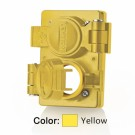 Leviton WTCVD - Wetguard Replacement Cover and Gasket for Duplex Outlets - Includes Mounting Screws - Industrial Grade - Yellow