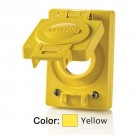 Leviton WTCVS-30 - Wetguard Replacement Cover and Gasket for all 30 Amp Locking Single Inlets and Outlets - Yellow