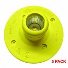 Shat-r-Shield Water Tight E26 Socket Large Base with Silicone Sleeve - 5 PACK